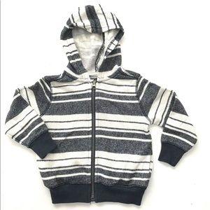 Boys Striped Hoodie Terry Beach Jacket 3T Blue